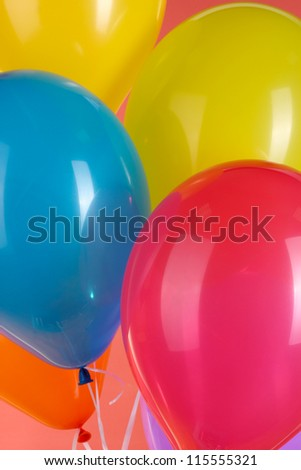 colorful balloons close-up
