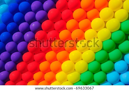 Colorful balloons. Graduation Rainbow theme