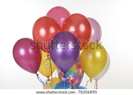 colorful balloons in white background