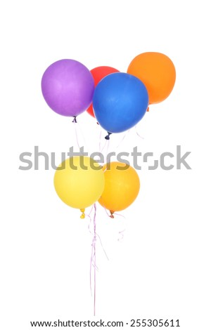 Colorful balloons isolated on a white background - stock photo