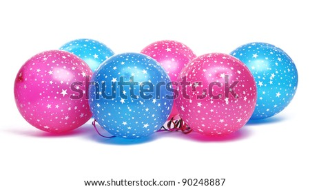 Colorful balloons isolated on white. - stock photo