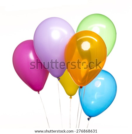 Colorful Balloons on White Background - stock photo