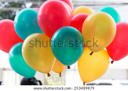 colorful balloons with happy celebration party background