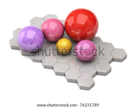 Colorful balls - stock photo