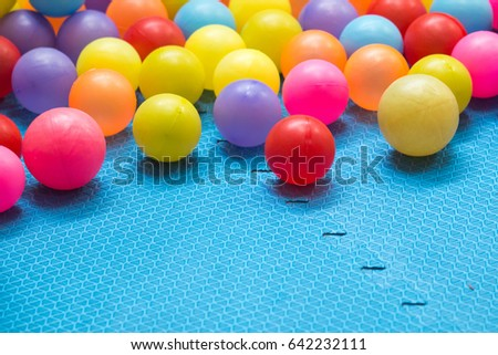 Colorful balls, children's play