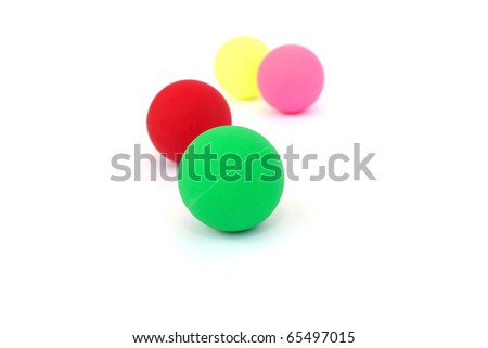Colorful  balls isolated on white background. - stock photo