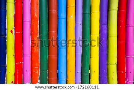 Colorful bamboo background