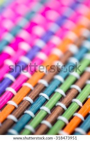 Colorful bamboo structure basket background