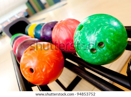 Colorful bawling ball waiting to be chosen