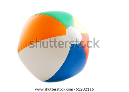 Colorful beach ball isolated on a white background