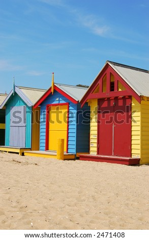 Colorful Beach Houses - stock photo