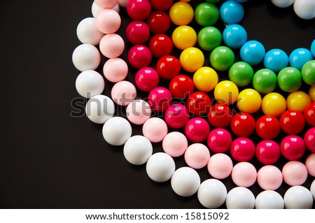 Colorful bead,isolated on black