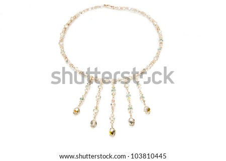 colorful beads necklace - stock photo