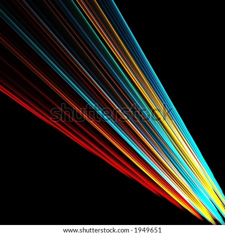 Colorful beam of light - stock photo