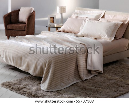 colorful bedroom - stock photo