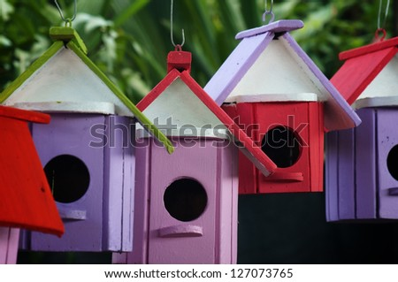 colorful birdhouse. - stock photo