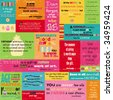 Colorful Birthday Quotes - stock vector