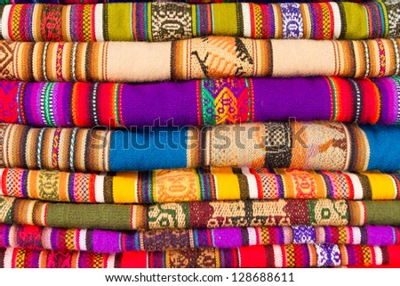Colorful blankets - stock photo