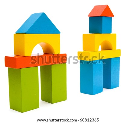 colorful blocks - stock photo