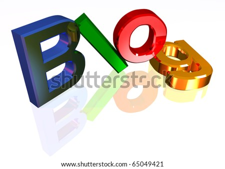 Colorful blog header - stock photo