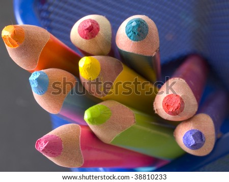 colorful blurred pencils