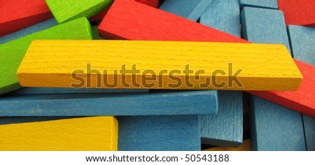 Colorful boards building toy