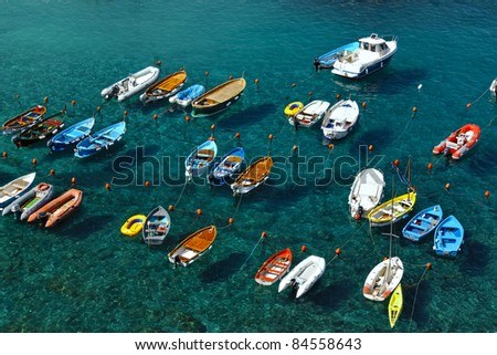 Colorful boats. - stock photo