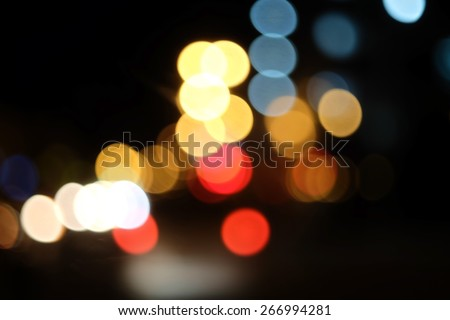 Colorful Bokeh Background. Bokeh  background with defocused lights. - stock photo