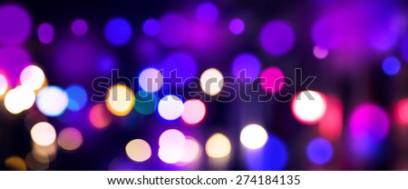 Colorful bokeh background panoramic shot and edited. - stock photo