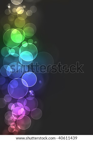 Colorful bokeh burst background - stock photo