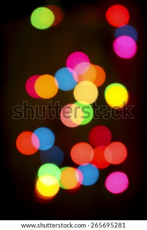 Colorful Bokeh christmas background