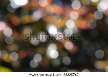 Colorful bokeh lights.  Horizontally framed shot. - stock photo