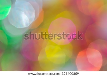 Colorful bokeh of  celebration abstract background - stock photo