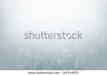 colorful bokeh on silver background - stock photo