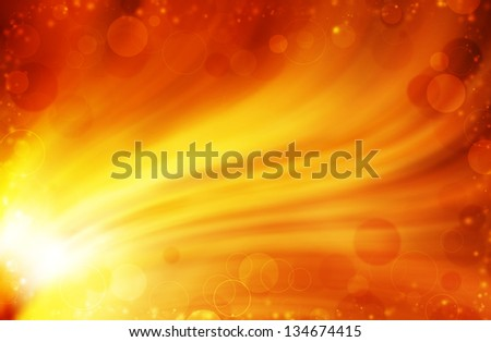 colorful bokeh on yellow curves background - stock photo