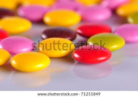 colorful bonbons - stock photo