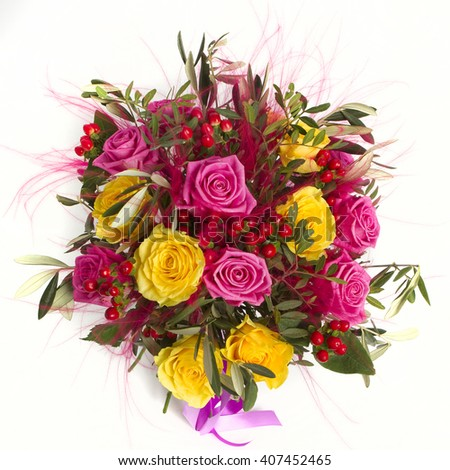 Colorful bouquet of flowers  - stock photo