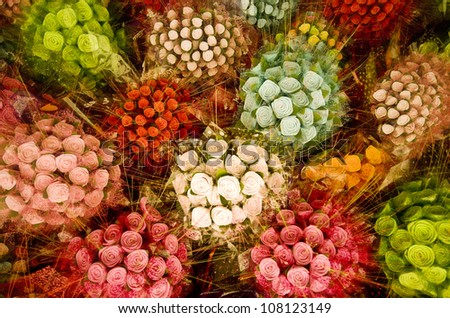 Colorful Bouquets - stock photo