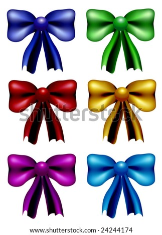 Colorful bow set