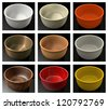 Colorful bowls - stock vector