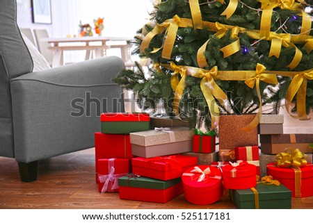 Gifts Under The Tree Stock Images, Royalty-Free Images & Vectors ...