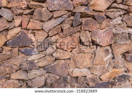 Colorful brick wall texture. - stock photo