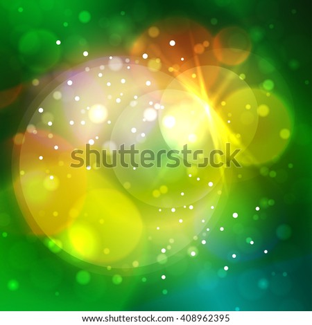 Colorful Bright Abstract Bokeh Background ,  Defocused Lights - stock photo