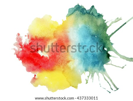 Colorful bright abstract watercolor background - stock photo