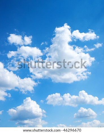 colorful bright blue sky background