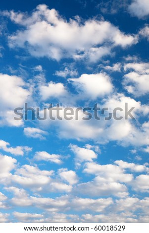 Colorful bright blue sky background. - stock photo