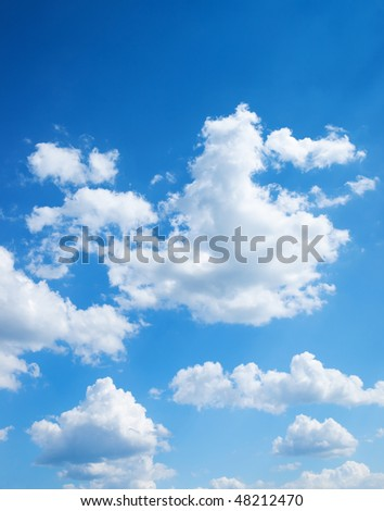 colorful bright blue sky background (remastered) - stock photo
