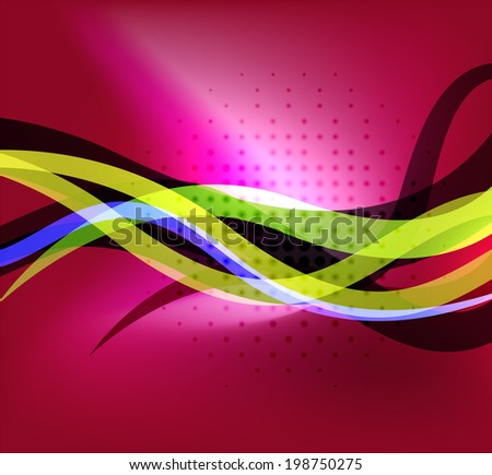 Colorful bright lines background design with dotted texture and place for text