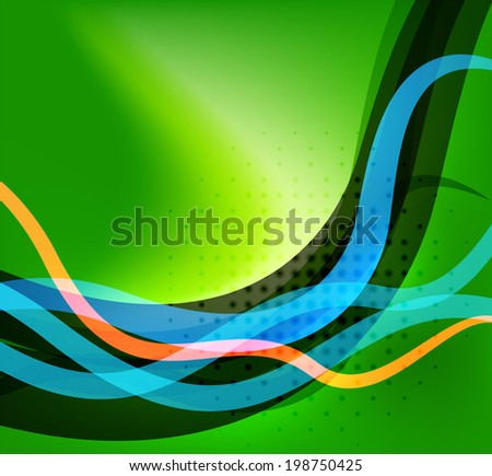 Colorful bright lines background design with dotted texture and place for text - stock photo