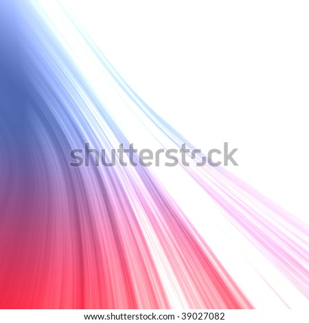 Colorful bright red-blue abstract feather background with copy-space. - stock photo